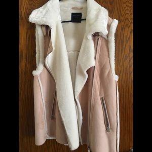 Baby Pink fluffy vest